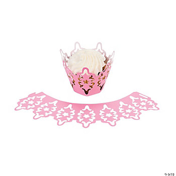 Cherry Blossom Wedding Laser-Cut Cupcake Collars