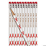 Personalized Red Ribbon Pencils