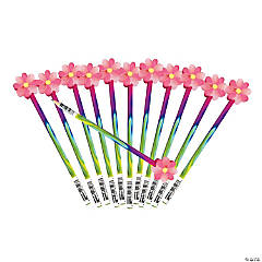 Flower Eraser Topper Pencils