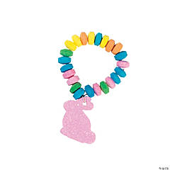 Stretchable Easter Candy Bunny Bracelets