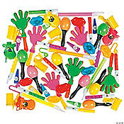 Noisemaker & Musical Instrument Novelty Assortment