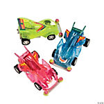 Transparent Neon Friction Race Cars