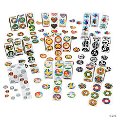 Paper Mega Rolls of Stickers Assortment