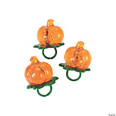 Jack-O'-Lantern-Shaped Sucker Rings