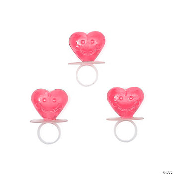 Heart-Shaped Sucker Rings