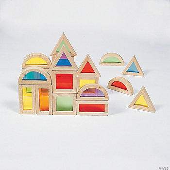 20 Cool Colorful See-Through Wooden Blocks