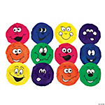 12 Happy Face Nylon Bean Bags