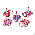 Heart Wooden Ring Toss Game