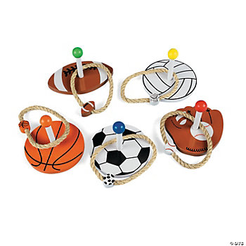 Super Sports! Wooden Ring Toss Game
