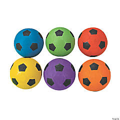 6 Pc. Rainbow Soccer Ball Set