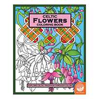 Image Of Celtic Flowers Coloring Book With Sku62001