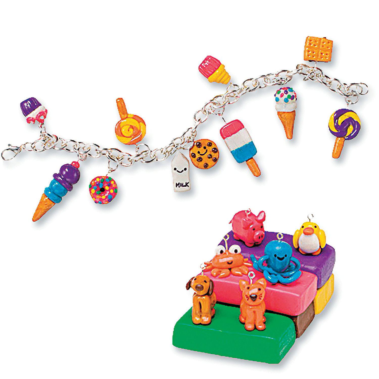 Make clay charms creative activities craft activities for Klutz make clay charms craft kit