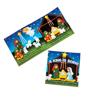 12 mini Christian Nativity story book package