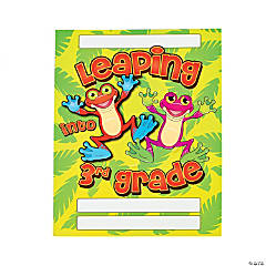 """Leaping Into 3rd Grade"" Folders"
