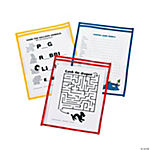 Dry Erase Sleeves - Primary Colors
