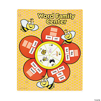 127 Pc. Busy Bee Word Family Center