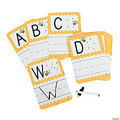 27 Pc. Busy Bee Write-On/Wipe-Off Alphabet Cards