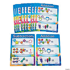 12 Seaside Learning Dry Erase Addition/Subtraction Sheets
