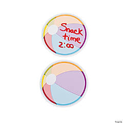 12 Seaside Learning Beach Ball Dry Erase Magnets