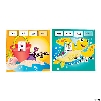 Seaside Learning Rhyming Words Game Center