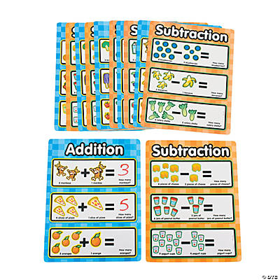 12 Monkey Marketplace Dry Erase Addition/Subtraction Sheets
