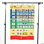 42 Pc. Monkey Marketplace Words Pocket Chart