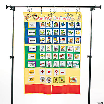 Monkey Marketplace Words Pocket Chart