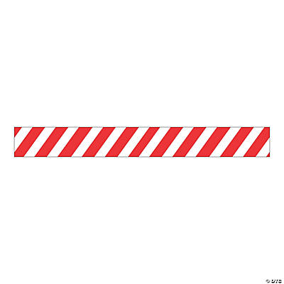 Red & White Stripe Bulletin Board Border