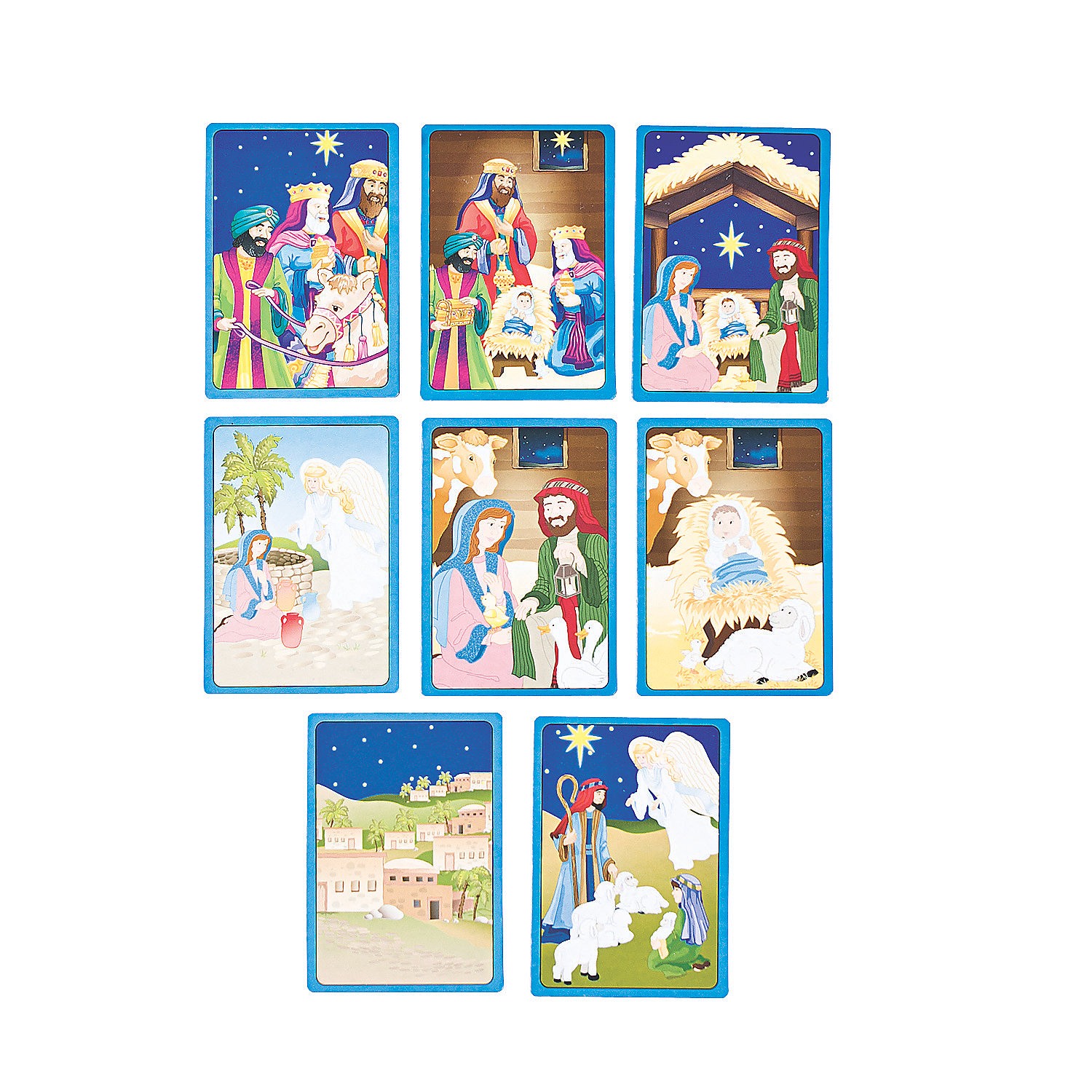Nativity Story Sequencing Cards - Oriental Trading - Discontinued