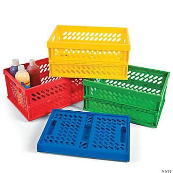 4 Pc. Foldable Storage Crate Assortment