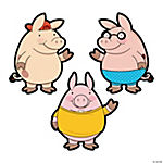 3 Little Pigs Bulletin Board Cutouts