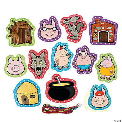 The Three Little Pigs Lacing Cards