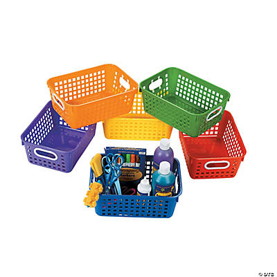 Classroom Storage Tall Baskets with Handles