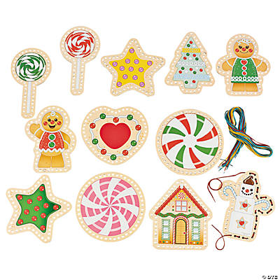 Gingerbread Lacing Cards
