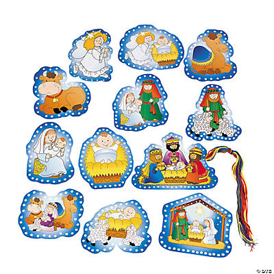Nativity Lacing Cards