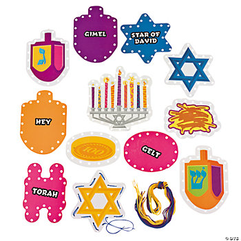 Hanukkah Lacing Cards