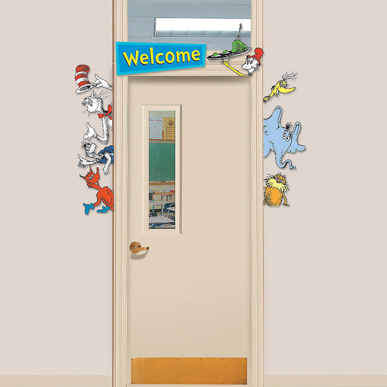 Halloween classroom door decorations ideas - Door Border Dr Seuss Welcome Go Arounds 174 Oriental Trading
