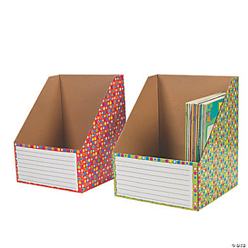 2 Color Dots Wide Book Holders
