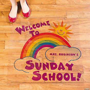 "Personalized ""Welcome To Sunday School"" Floor Cling"