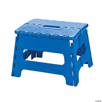 Child's Blue Folding Stool
