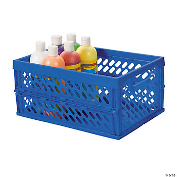 Blue Foldable Storage Crate
