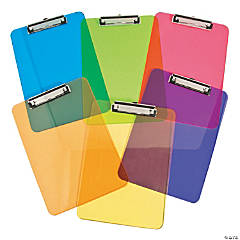 6 Rainbow Clipboards