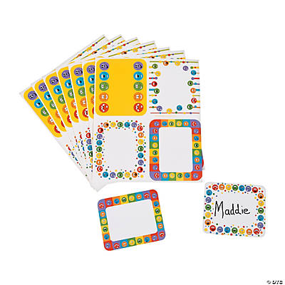 Smile Face Name Tags/Labels