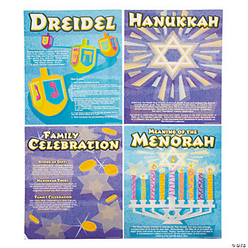 All About Hanukkah Learning Charts