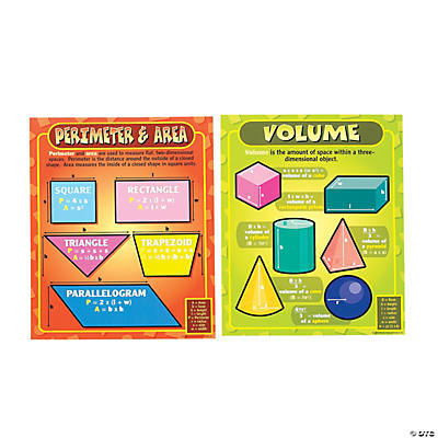 Intermediate Math Geometry Learning Chart Set