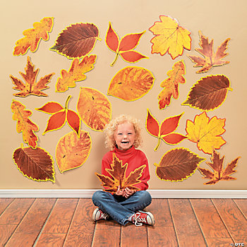 48 Jumbo Fall Leaves Classroom Cutouts
