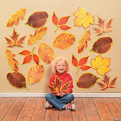 Jumbo Fall Leaves Classroom Cutouts