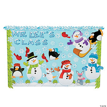 143 Pc. Winter Wonderland Bulletin Board Set