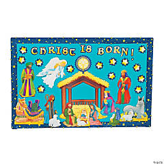 202 Pc. Nativity Bulletin Board Set