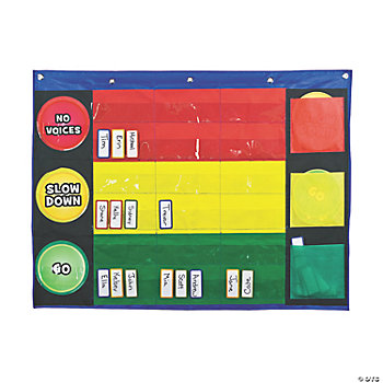 51 Pc. Stoplight Pocket Chart